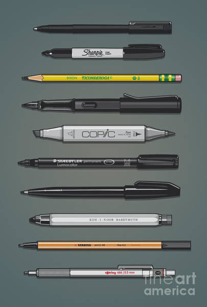Sharpie Wall Art - Digital Art - Pen Collection For Sketching And Drawing II by Monkey Crisis On Mars