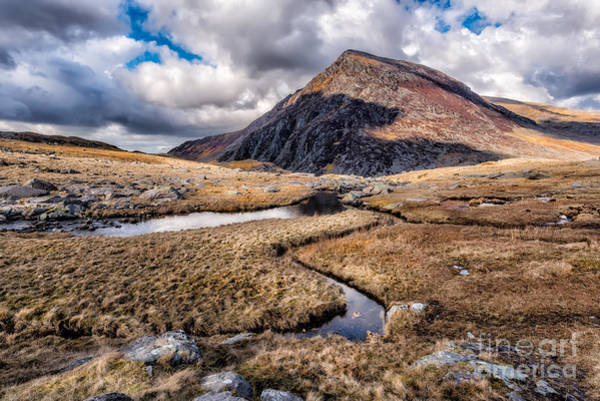 North Wales Wall Art - Photograph - Pen Yr Ole Wen Mountain by Adrian Evans
