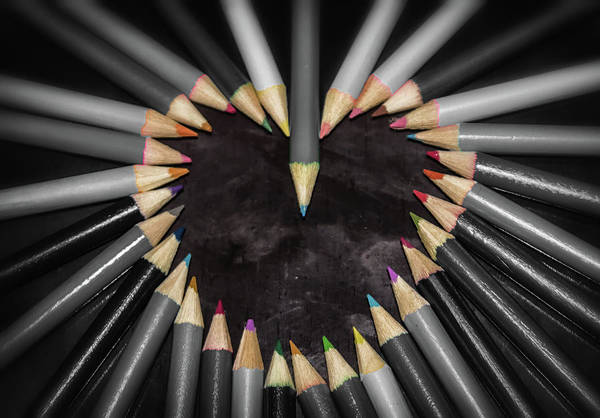 Wall Art - Photograph - Pencil Heart by Martin Newman