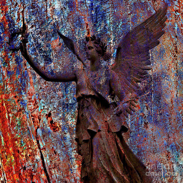 Mixed Media - Pending Victory Goddess Victoria by Silva Wischeropp