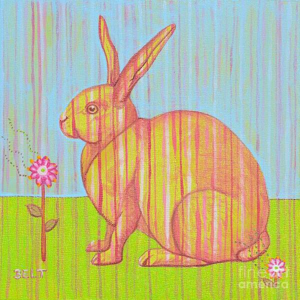 Wall Art - Painting - Penelope The Rabbit At Snickerhaus Garden by Christine Belt