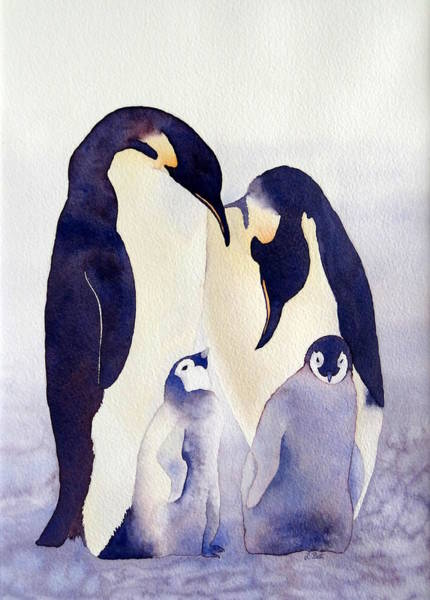 Painting - Penguin Family by Laurel Best