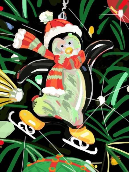 Bauble Digital Art - Penguin by Plum Ovelgonne