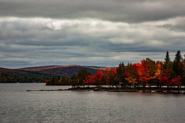 Photograph - Peninsula Of Fall Color On Rangeley Lake by Jeff Folger