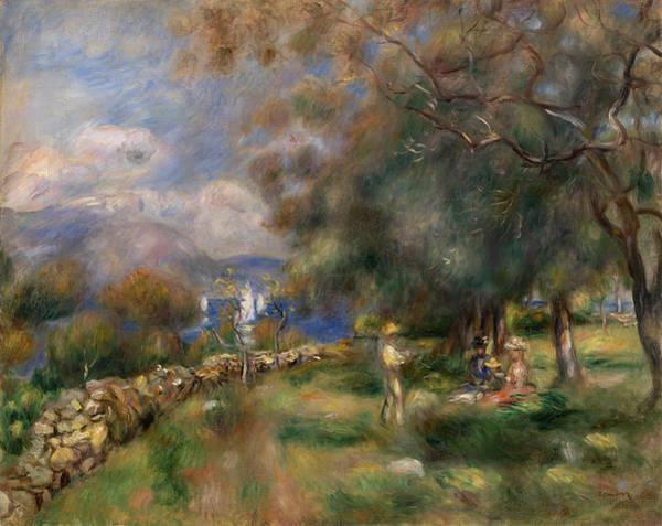 Wall Art - Painting - Peninsula Of Saint-jean by Pierre-Auguste Renoir