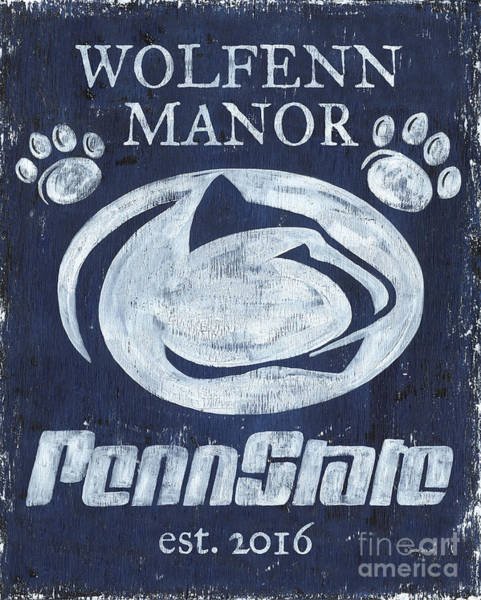 Wall Art - Painting - Penn State Personalized by Debbie DeWitt