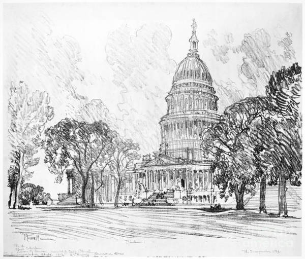 Drawing - Pennell Capitol, 1912 by Granger