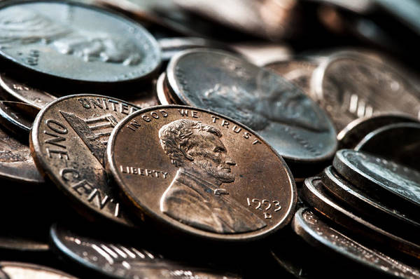 In God We Trust Photograph - Pennies by Pelo Blanco Photo