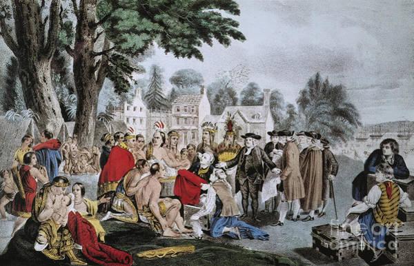 Photograph - Penns Treaty by Granger