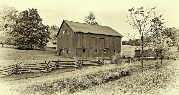 Wall Art - Photograph - Pennsylvania Barn 7 Sepia by Steve Harrington