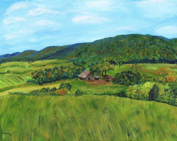 Wall Art - Painting - Pennsylvania Country by Laura Zoellner