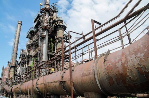 Photograph - Pennsylvania Industrial - Bethlehem Steel by Bill Cannon