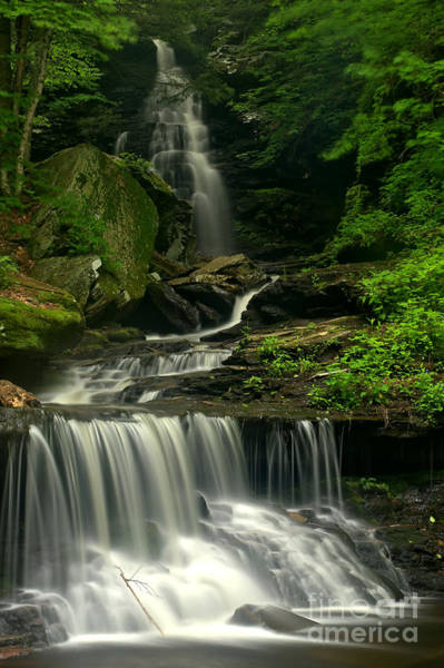 Triple Falls Photograph - Pennsylvania Ozone Falls by Adam Jewell