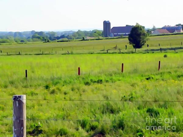 Fence Post Digital Art - Pennsylvania Pasture by Ed Weidman
