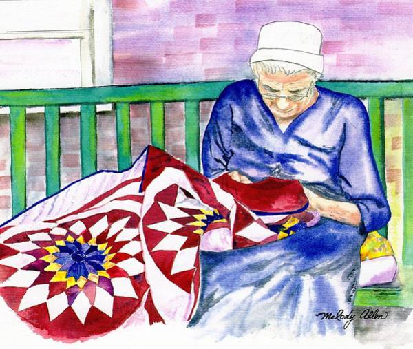 Wall Art - Painting - Pennsylvania Quilt by Melody Allen
