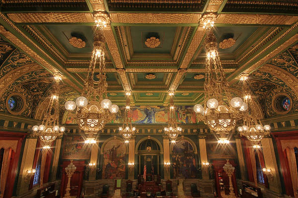 Photograph - Pennsylvania Senate Chamber by Shelley Neff