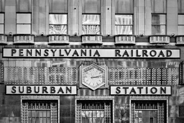 Wall Art - Photograph - Pennsylvania Suburban Station Bw  by Susan Candelario