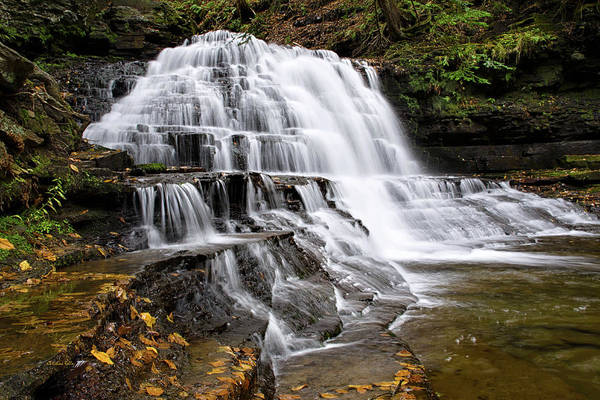 Photograph - Pennsylvania Waterfall by Christina Rollo