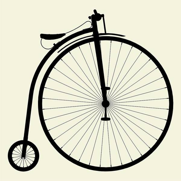 Bike Digital Art - Penny-farthing Bicycle by Nenad Cerovic