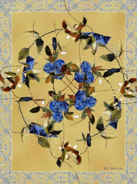 Painting - Penny Postcard Silk-stitched by RC DeWinter