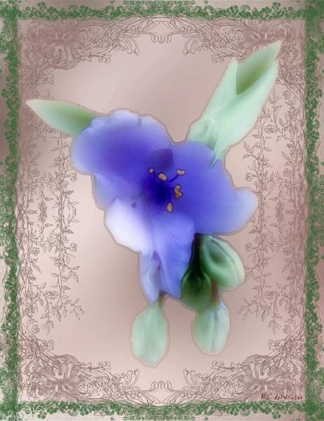 Painting - Penny Postcard Wildflower by RC DeWinter