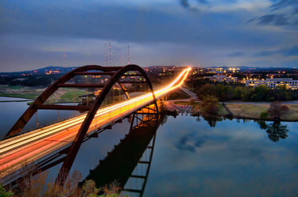 Photograph - Pennybacker Bridge At Dusk by John Maffei