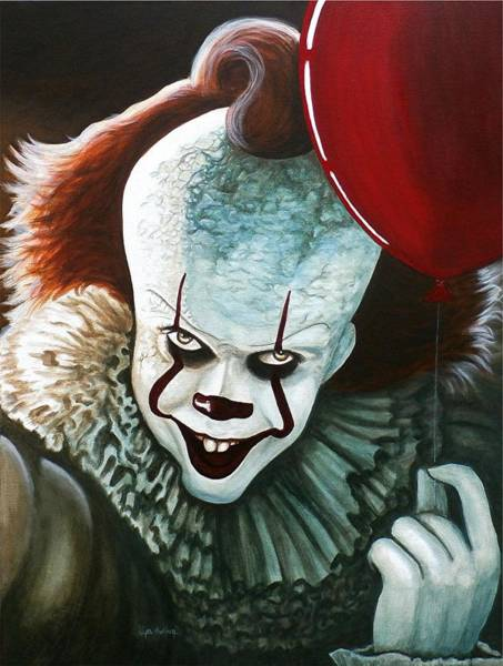 Wall Art - Painting - Pennywise by Al  Molina