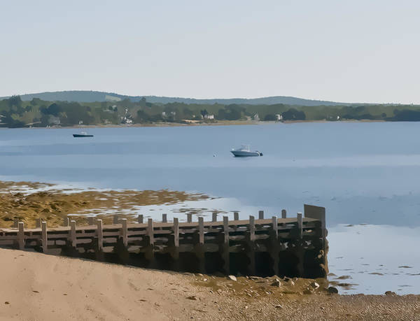 Photograph - Penobscot Bay And Dock by Ginger Wakem