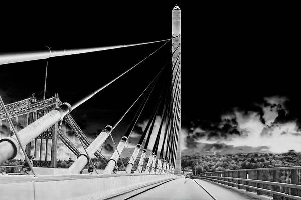 Photograph - Penobscot Narrows Bridge In Infrared by Kay Brewer