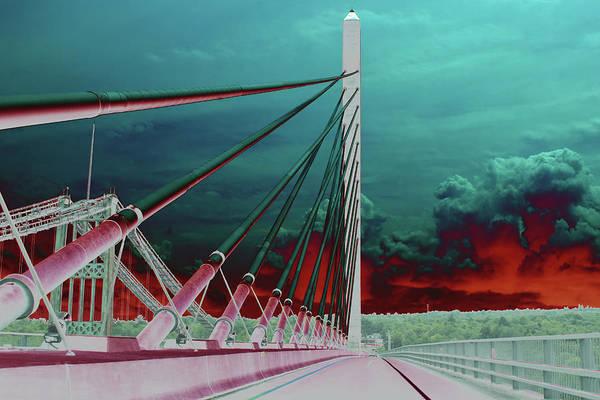 Photograph - Penobscot Narrows Bridge In Solar  by Kay Brewer