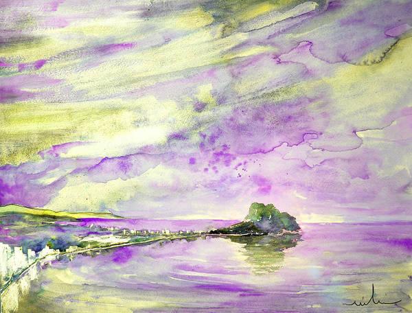 Painting - Penon De Ifach In Calpe 02 by Miki De Goodaboom