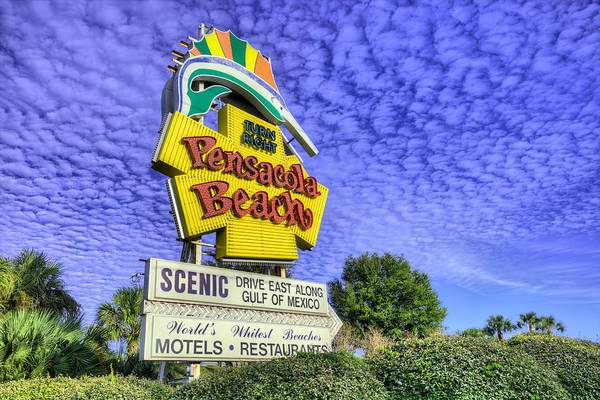 Pensacola Photograph - Pensacola Beach Sign by JC Findley