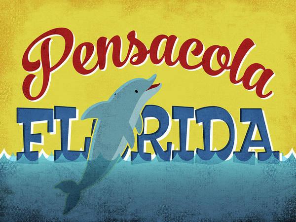 Advertisement Digital Art - Pensacola Florida Dolphin by Flo Karp