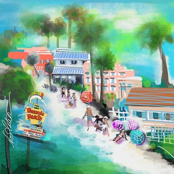 Gulf Digital Art - Pensacola Florida by Nicole Slater