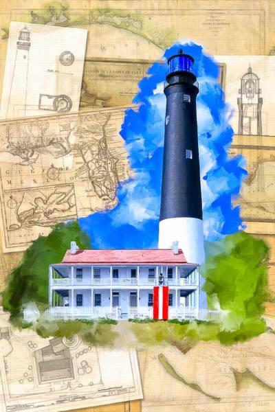 Mixed Media - Pensacola Lighthouse - Florida Nostalgia by Mark Tisdale