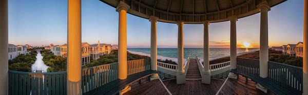 Pensacola Pavilion Seaside Sunset Art Print