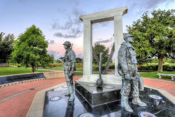 Photograph - Pensacola World War Two Memorial by JC Findley