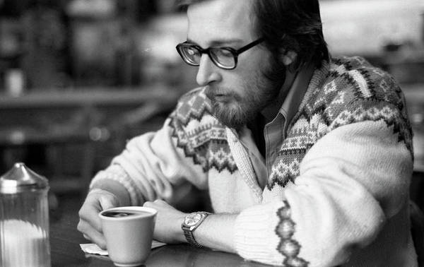 Photograph - Pensive Brown Student, Louis Restaurant, 1976 by Jeremy Butler