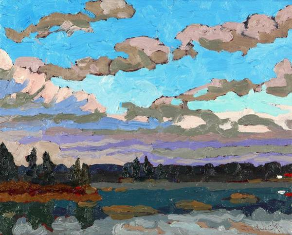 Stratocumulus Painting - Pensive Clouds by Phil Chadwick