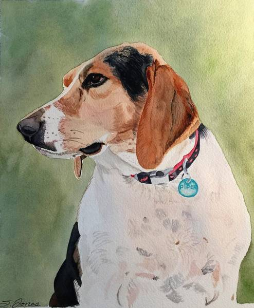 Painting - Pensive Piper by Sonja Jones