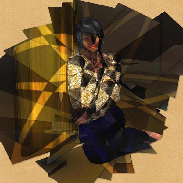 Digital Art - Pensive Woman by Judi Suni Hall