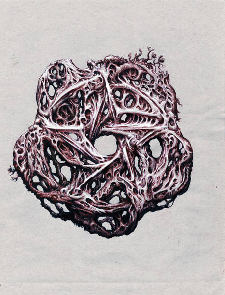 Organic Drawing - Pentacle by Will Shanklin