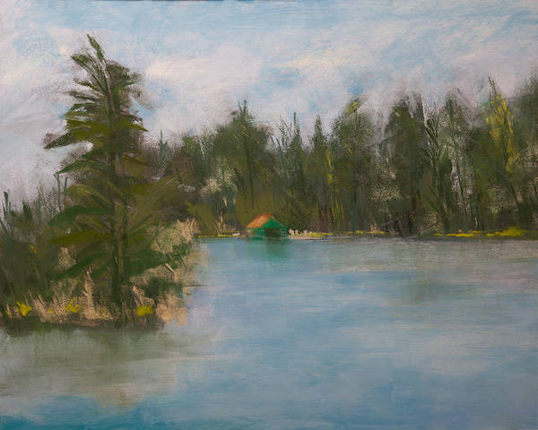 Wall Art - Painting - Penwood On Fourth Lake by David Patterson