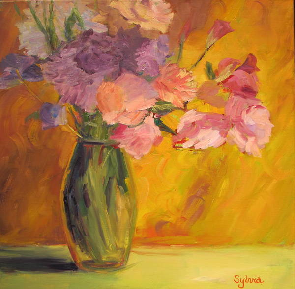 Wall Art - Painting - Peonie Bouquet by Sylvia Carlton