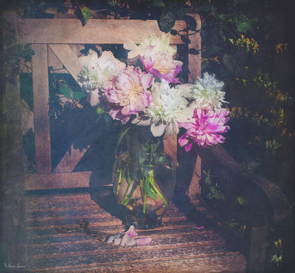 Photograph - Peonies And Honeysuckle by Anna Louise