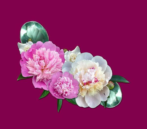 Pastel - Peonies In Pink And Blue by Joy of Life Art Gallery