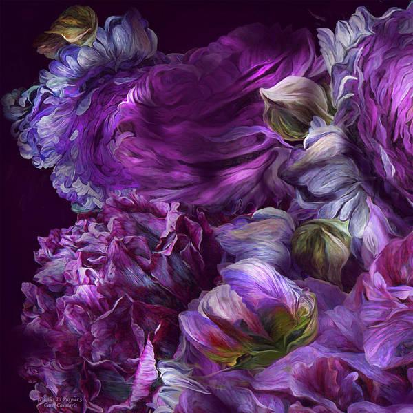 Mixed Media - Peonies In Purples 3 by Carol Cavalaris