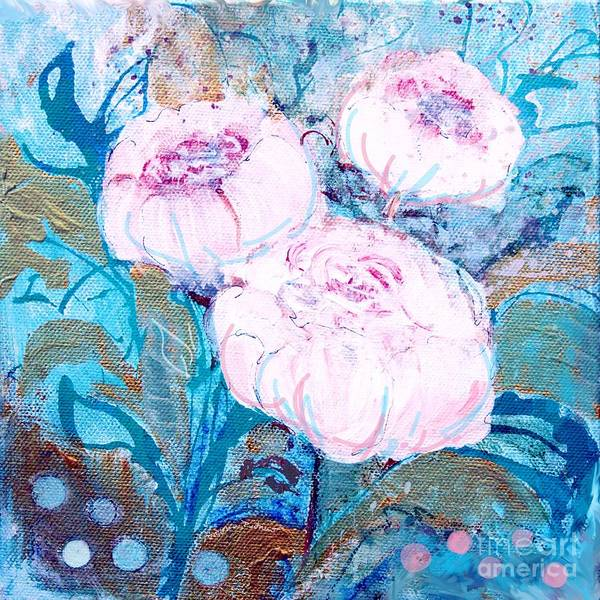 Painting - Peonies Three  by Robin Maria Pedrero