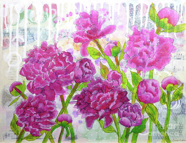 Painting - Peony Profusion by Lisa Crisman