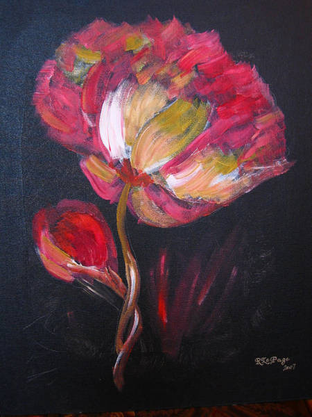 Painting - Peony by Richard Le Page
